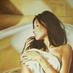 Woman Bathing 2 by andylloyd