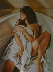 Woman bathing 3 by andylloyd