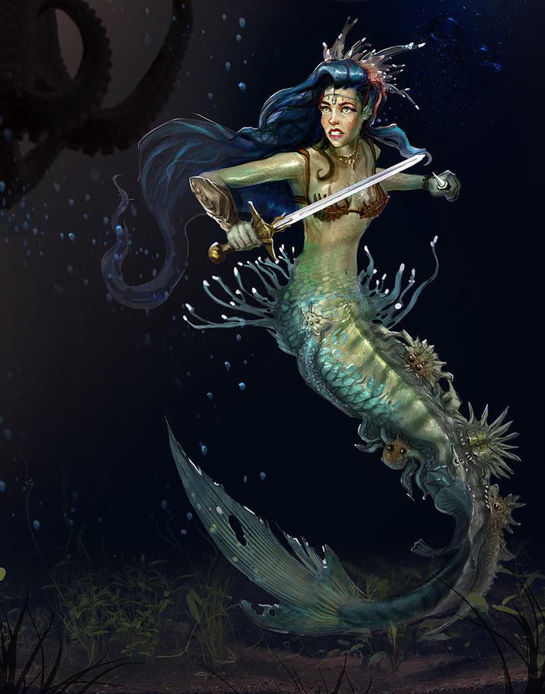 Mermaid Warrior by TakenFlyght on DeviantArt