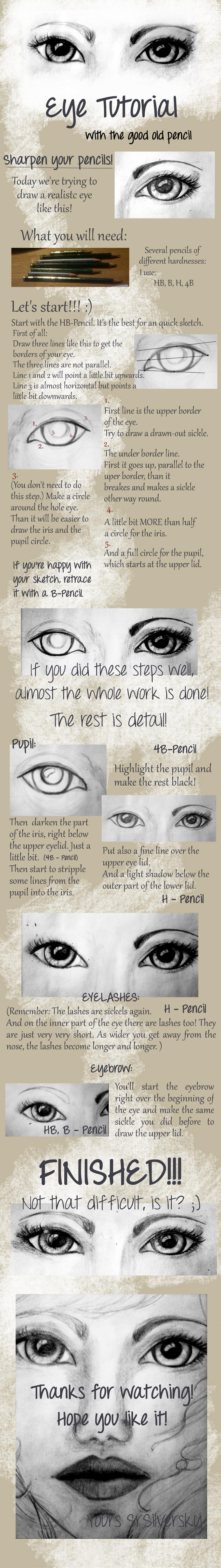 How to draw... a realistic Eye? by SrSilversky