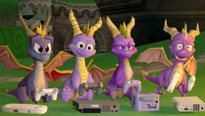 (SFM Spyro) Four dragons playing video games...