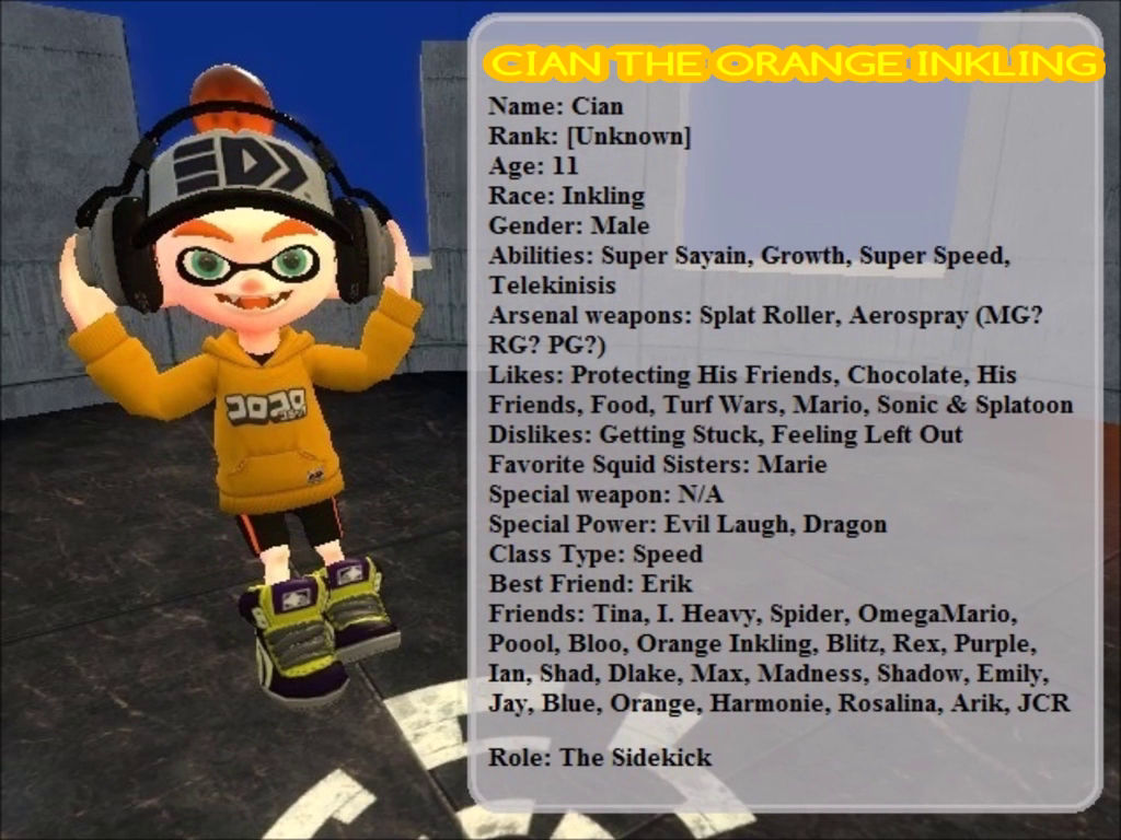 Splatastic Files: Cian The Orange Inkling by AwesomeJCR on DeviantArt
