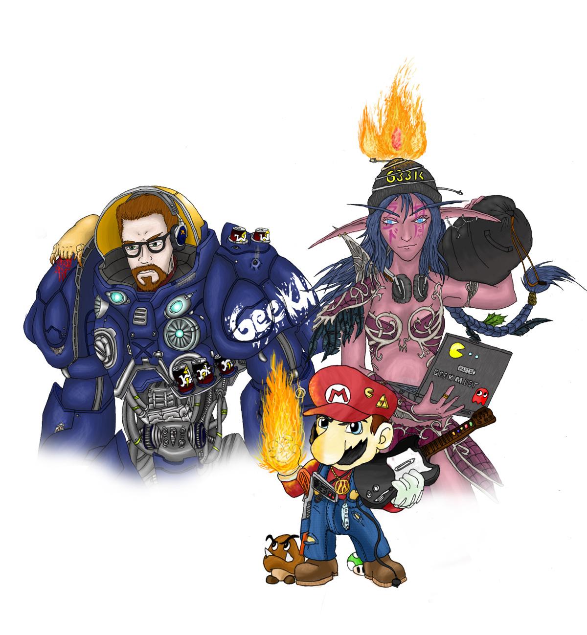 GeekMeet LAN Poster 3 by TheLandoBros