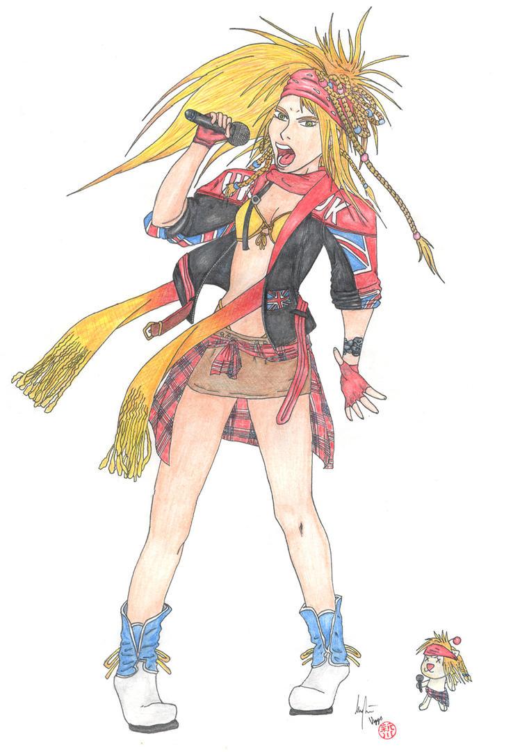 Gullwings n Roses Axl Rikku by TheLandoBros