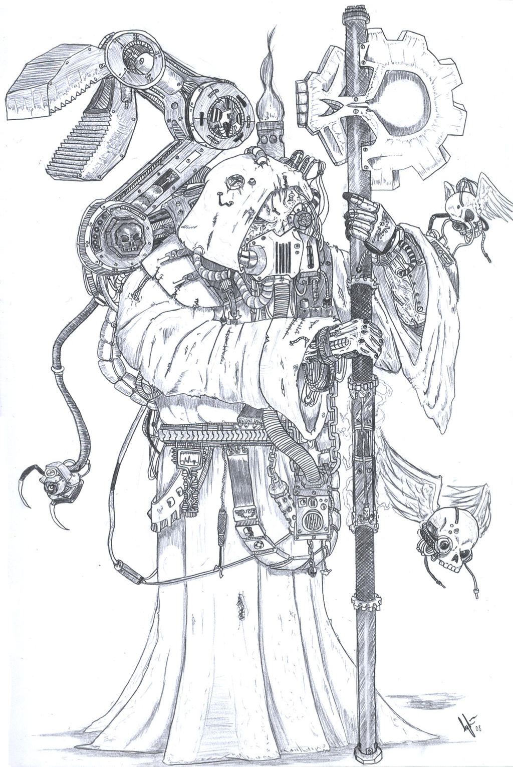 Techpriest Ramirez WH40k by TheLandoBros