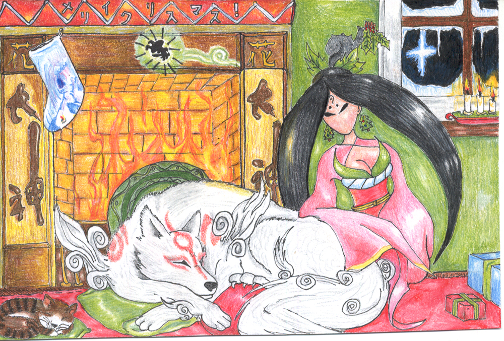Okami Christmas by TheLandoBros