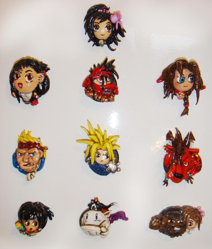 Final Fantasy VII Magnets by TheLandoBros