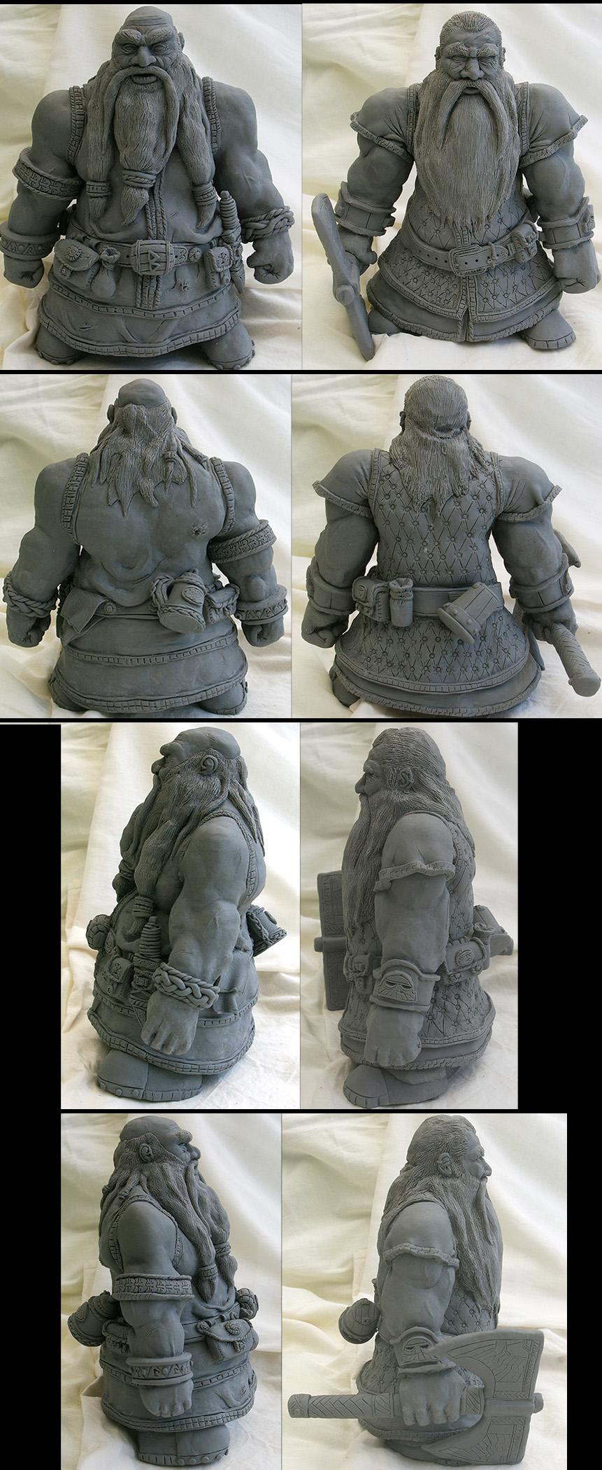 Sculpey Warhammer Dwarfs by TheLandoBros