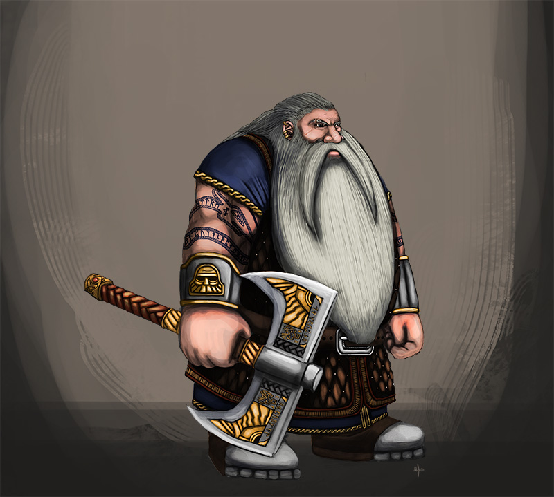 Dwarf Warrior Concept by TheLandoBros
