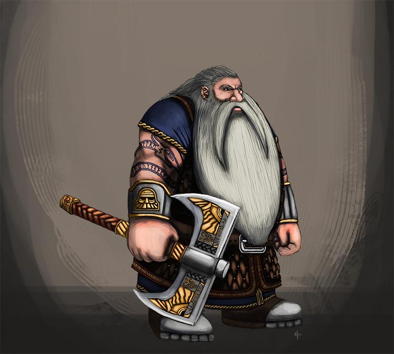Dwarf Warrior Concept by TheLandoBros