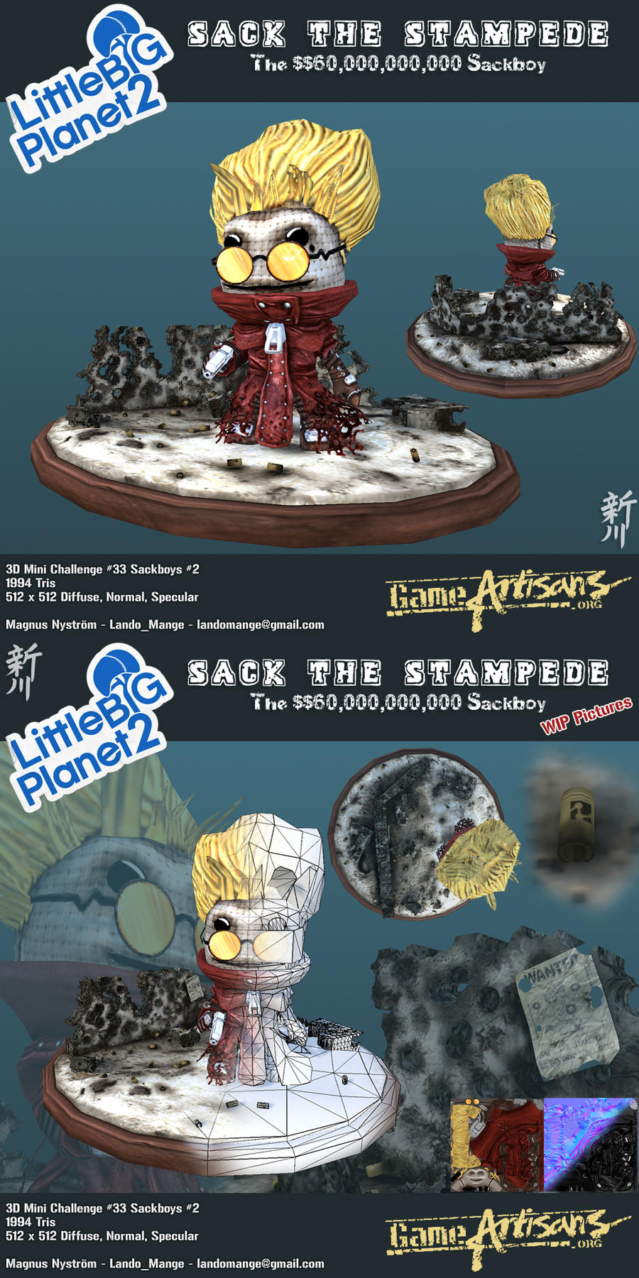 Vash the Stampede - Sackboy by TheLandoBros