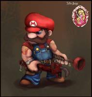Super Plumber Mario by TheLandoBros