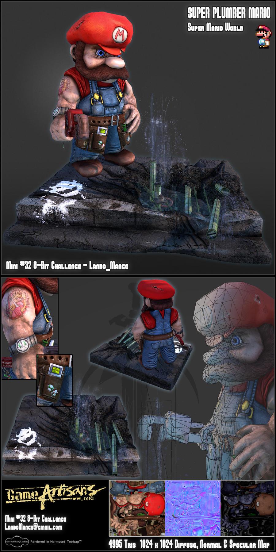 Super Plumber Mario - 3D by TheLandoBros