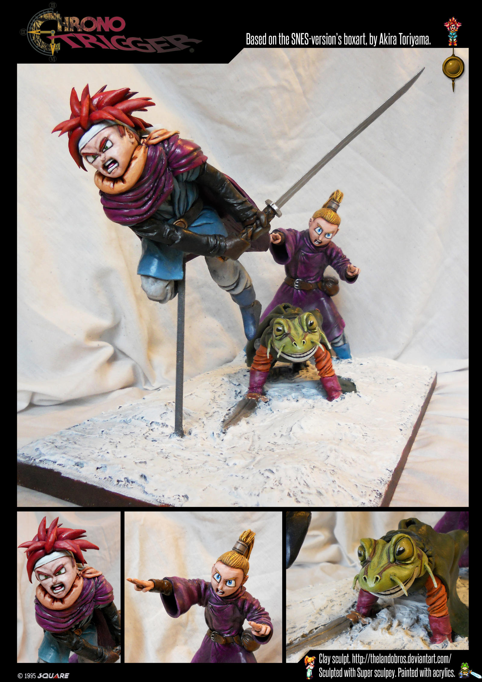 Chrono Trigger Sculpture by TheLandoBros