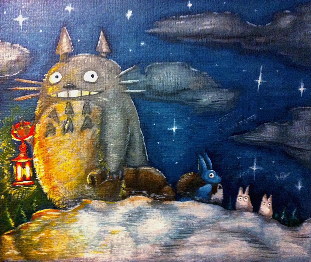 Christmas Totoro Part 2 by TheLandoBros
