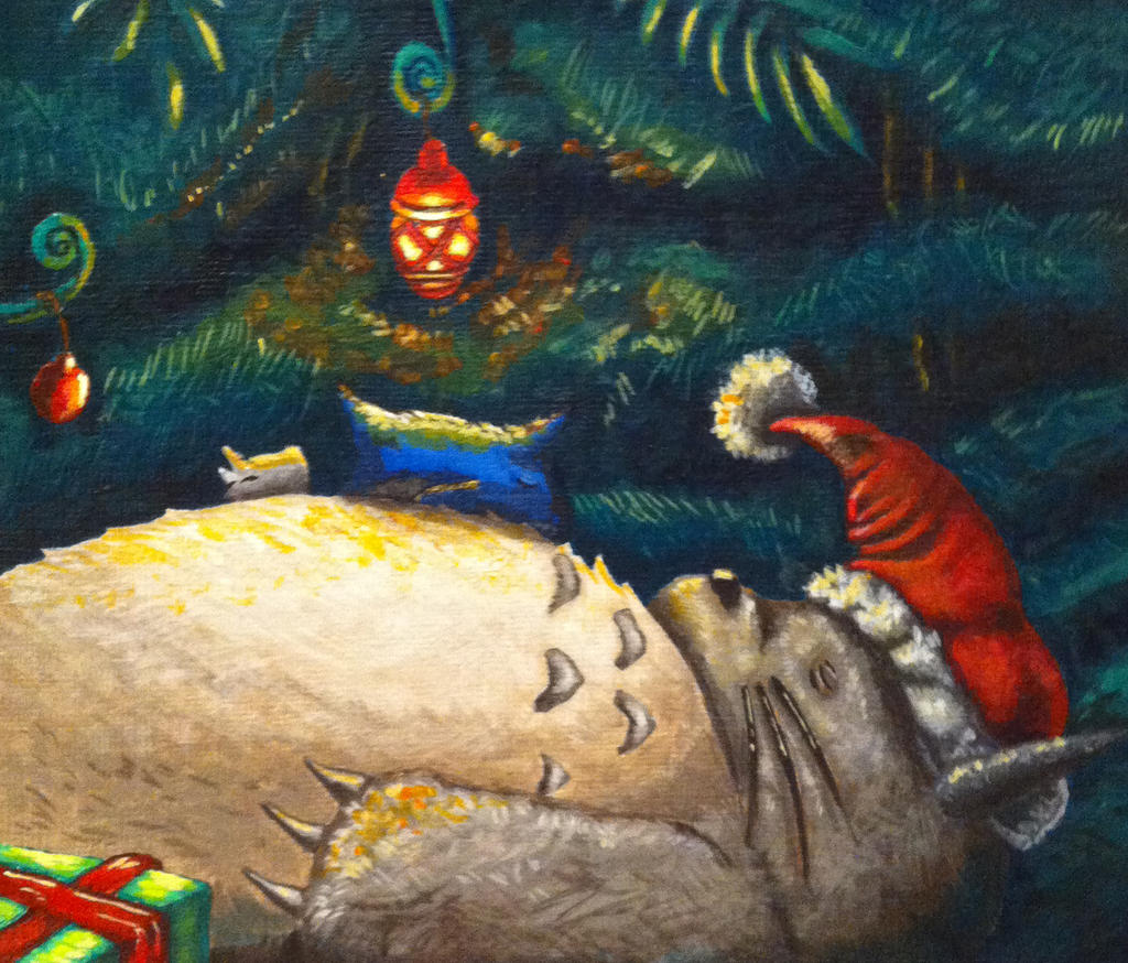 Christmas Totoro 2013 by TheLandoBros