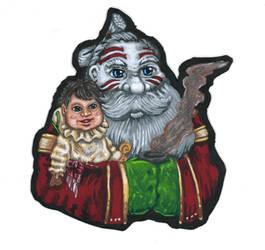 Kabuki Santa and Hideki Christmas Card 2019