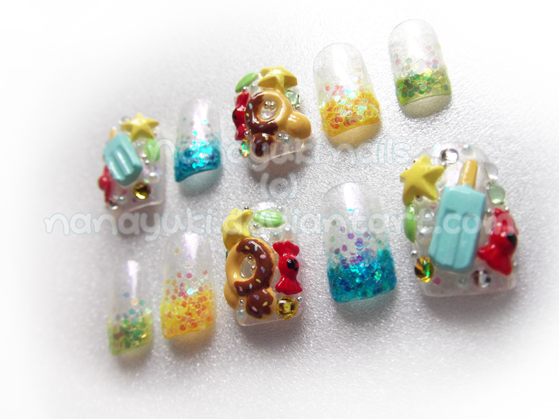 sweet kingdom hearts nails by Nanayuki