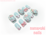 winter sweet nails blue ver