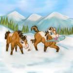 First Winter (digital art) by Alyssaeve