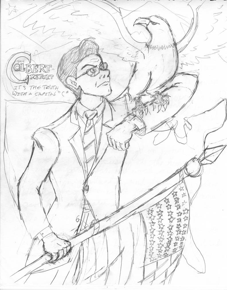 Stephen Colbert by AngstyGuy