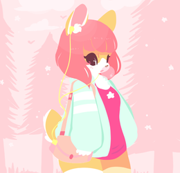 Pinkly Morning Stroll