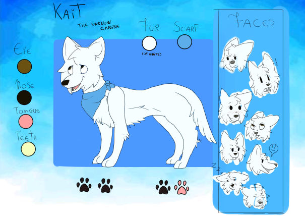Kait, the unknow canine - Reference sheet