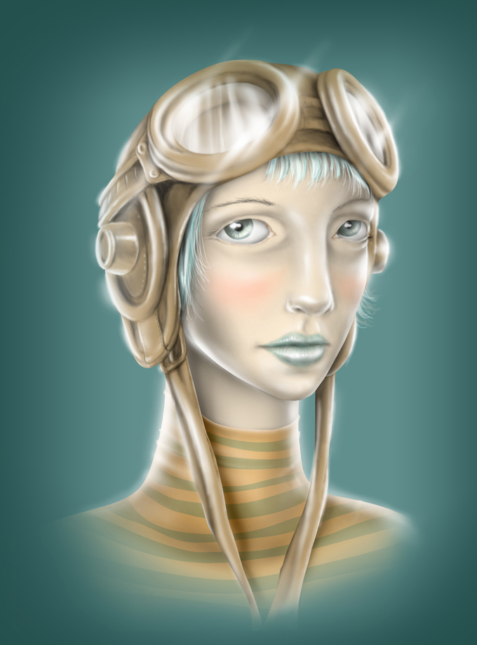 steampunk girl by tolagunestro