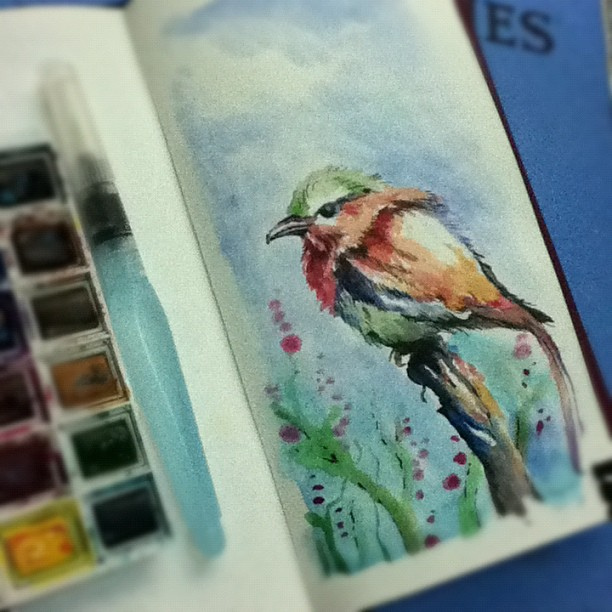 watercolors practice - last one of today by tolagunestro