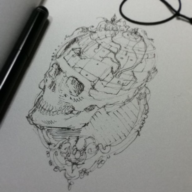 First Sketch - Fundos falsos by tolagunestro