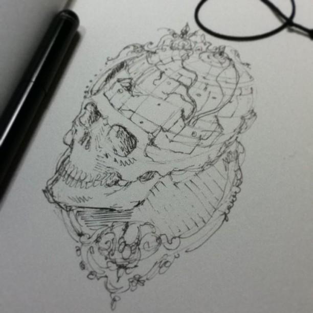 First Sketch - Fundos falsos by tolagunestro