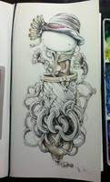 Watercolors on a Sketchbook