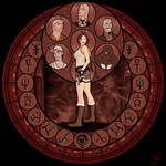 Tomb Raider Stained Glass