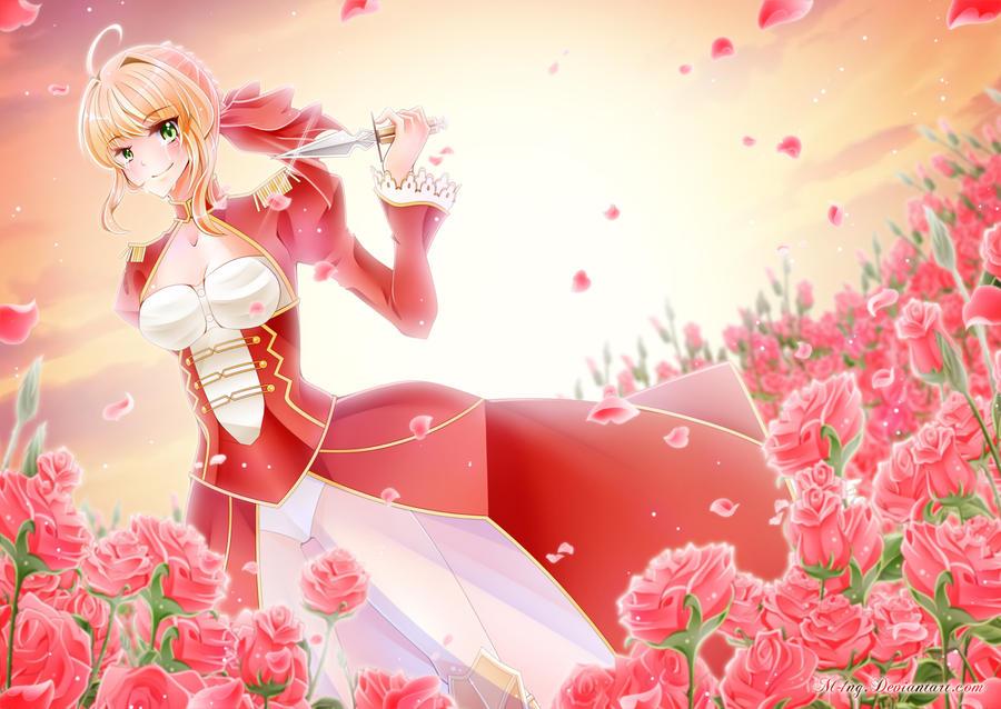 I Decide My Ending, Sunset Rose Garden by M-1nG