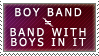 Boy Band =/= Band With Boys In It Stamp by MillionsOfStamps