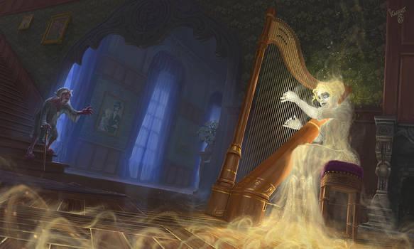 The harpist ghost