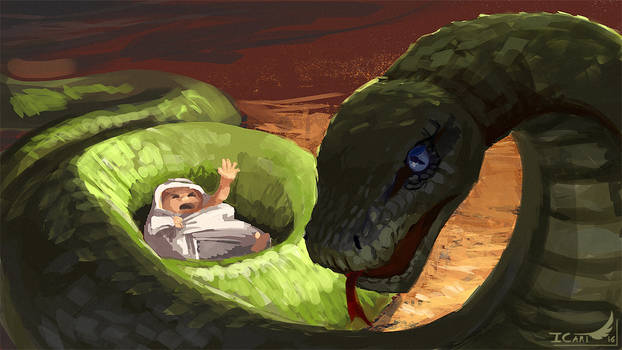 1h15 Speedpainting - The serpent's children
