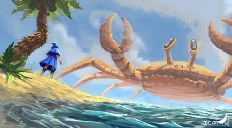 3h Speedpainting -  the giant crab