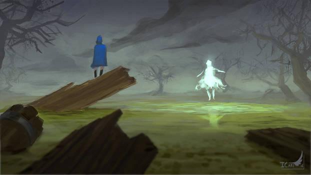 1h45 Speedpainting - Ghost in the swamp