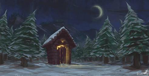 2h Speedpainting - Snowy night