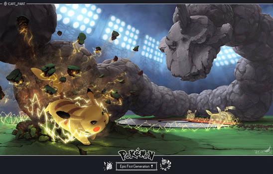 ( edit ) EPIC FIRST GENERATION - Pikachu VS Onix