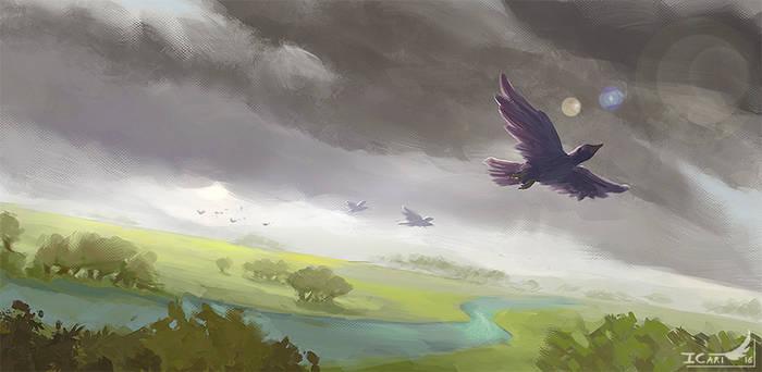 2h10 Speedpainting - Birds escape.