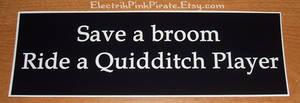 Ridea quidditch player sticker