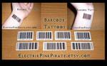 Barcode temporary tattoos