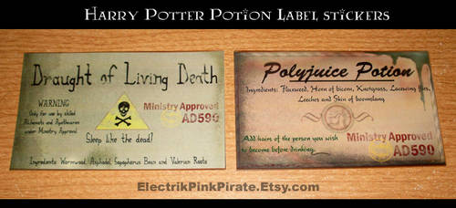 Potion stickers :D by ElectrikPinkPirate