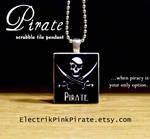 Pirate Scrabble tile pendant