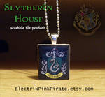 HP Slytherin scrabble pendant