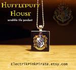 Hufflepuff scrabble pendant