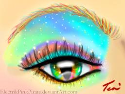 Rainbow eyebright by ElectrikPinkPirate