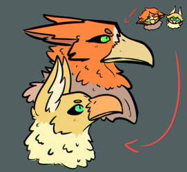 Galya and Brooklyn - Animal form by Blairlin